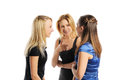 Three young attractive women Stock Photography