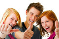 Three Young Teenagers Stock Images