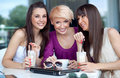Three young women Royalty Free Stock Images