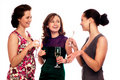Three Young Women Royalty Free Stock Photography