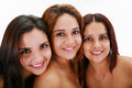 Three young women sisters portrait of Stock Image