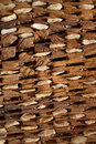 Threshing board of aged wood and stones texture Royalty Free Stock Photo