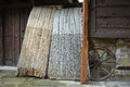Threshing boards used to separate cereals from their straw Royalty Free Stock Photo