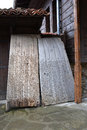 Threshing boards used to separate cereals from their straw a board is an obsolete farm implement Stock Photography