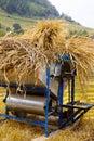 Threshing machine Royalty Free Stock Photo