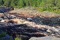 Threshold morskoj on pongoma river karelia russia northern Royalty Free Stock Photography