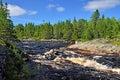 Threshold morskoj on pongoma river northern karelia russia Royalty Free Stock Images