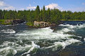 Threshold padun on umba river kola peninsula russia the Stock Image
