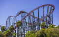 Thrill ride in Six Flag Royalty Free Stock Photo