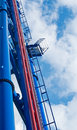 Thrill rollercoater platform Royalty Free Stock Photos