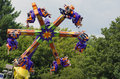 Thrilling ride people enjoy this at a indiana usa carnival Royalty Free Stock Image