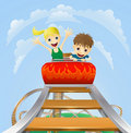 Thrilling roller coaster ride Royalty Free Stock Photo
