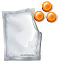 Throat lozenges illustration of the on a white background Royalty Free Stock Image