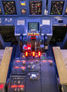 Throttle and control panel flight simulator in a Stock Image