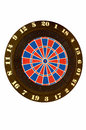 Throwing darts at the target a popular social game Royalty Free Stock Images