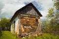 The thrown house old russia Royalty Free Stock Image