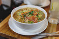 Thukpa is a Tibetan noodle soup, which originated in the eastern part of Tibet. Royalty Free Stock Photo