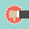 Thumb down vector illustration Royalty Free Stock Photo