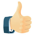 Thumb s up hand sign vector illustration Royalty Free Stock Photos