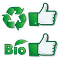 Thumb up bio eco project Royalty Free Stock Photography