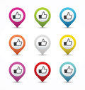 Thumb up button Royalty Free Stock Photo
