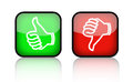 Thumb Up Down Buttons Royalty Free Stock Images