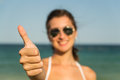 Thumb Up Girl Royalty Free Stock Photos
