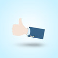 Thumb up hand abstract design Royalty Free Stock Photo