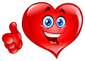 Thumb up heart Stock Images