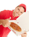 Thumb up for pizza Stock Photography