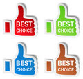 Thumb Up Stickers Stock Photography