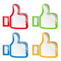 Thumb Up Stickers Stock Images