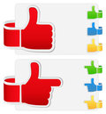 Thumb up symbols Royalty Free Stock Photos