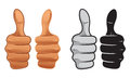 Thumb up thumbs style illustration Stock Image