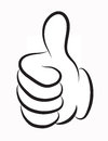 Thumb Up Vector Royalty Free Stock Photo