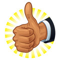 Thumb up vector illustration symbol Royalty Free Stock Image