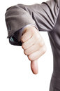 Thumbs down Stock Photography