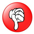 Thumbs Down Button Royalty Free Stock Photo