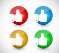 Thumbs up buttons seals illustration design over a white background Royalty Free Stock Image