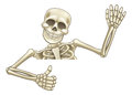 Thumbs Up Cartoon Halloween Skeleton Royalty Free Stock Photo