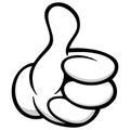 Thumbs Up Cartoon Hand