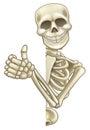 Thumbs Up Cartoon Skeleton Sign Royalty Free Stock Photo