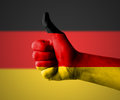 Thumbs up for germany hand with Royalty Free Stock Photography