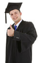 Thumbs up graduate Stock Photography