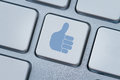 Thumbs up or like icon Royalty Free Stock Photography