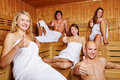 Thumbs up in a mixed sauna Stock Images