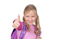 Thumbs up for school Stock Photography