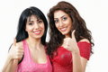 Thumbs up - two women Royalty Free Stock Images