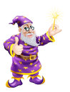 Thumbs up Wizard with Wand Royalty Free Stock Photos