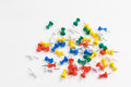 Thumbtack white background Royalty Free Stock Photo